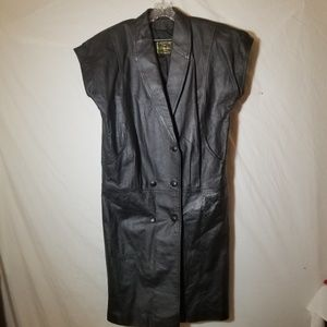 Motorcycle Vest Leather ECHTES LEDER  Sz L
